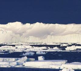 Melting of Antarctica glaciers