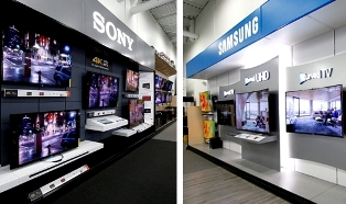 New Sony and Samsung TV brands