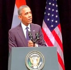 Obama addressing at Siri Fort