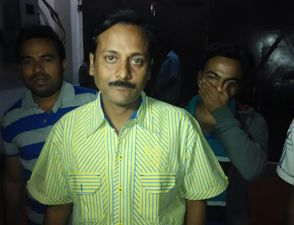 Ranjan Dash after coming out of the Jharpada jail in Bhubaneswar on Saturday (Pic: Santosh Jagdev)
