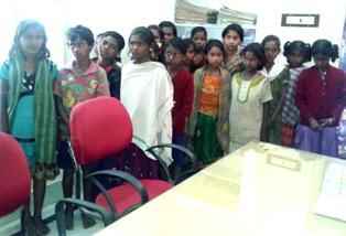 Rescued school children in Rayagada