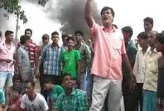 protest on road