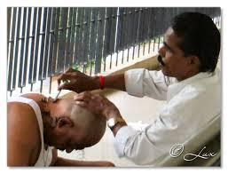 tonsuring of head