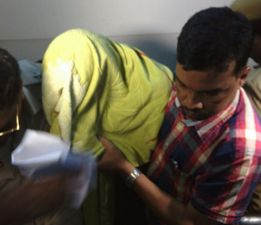 Triple murder accused Bhabani after his arrest Pic: Santosh Jagdev