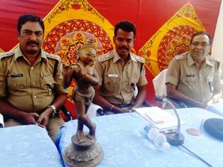 Recovered Krishna Idol
