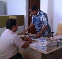Crime Branch officials at Rayagada collector's office