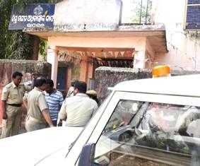 Crime Branch team at DWO office in Rayagada