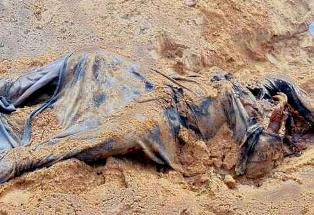 Decomposed body of Sahu