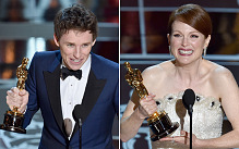 (from left) Eddie Redmayne and Julianne Moore  pic: www.telegraph.co.uk