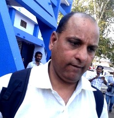 RD Sharma, Inspector, CBI SIT, at the Rayagada railway station