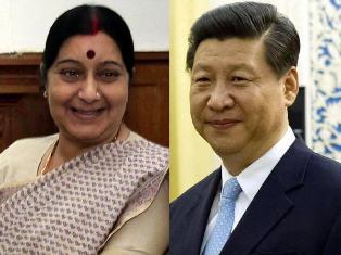Sushma Swaraj and Xi-Jinping