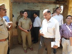 The CBI team at the Tikiri primary school  (Pic:  Ranjan Rath)