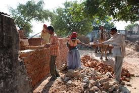 File Pic: A house being constructed under the Indira Awas Yojana
