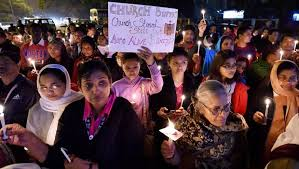 protest on church attack