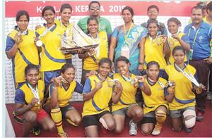 The gold medal winning Odisha women's rugby team