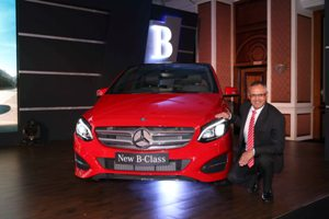 Mercedes-Benz MD CEO Eberhard Kern at the launch of the New B-Class in M..