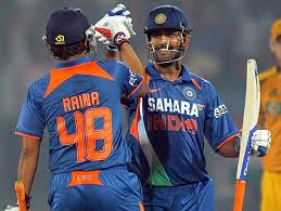 dhoni with raina