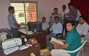 The EOW raid at Sarala Realcon office in Jayadurga Nagar in Bhubaneswar on Monday (Pic: Biswaranjan Mishra)
