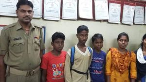 minors rescued