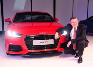 Mr. Joe King, Head, Audi India with the all-new Audi TT.