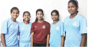The four Odisha players of the Indian under 14 team with assistant team coach and former captain of the Indian team Shraddhanjali Samantray retruned from Kathmandu safely on Sunday evening