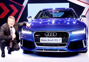Joe King, Head, Audi India with the new Audi RS 7 Sportback