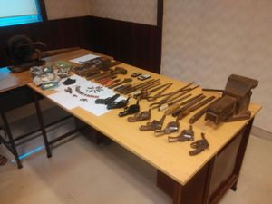 Arms and ammunition seized during the raid