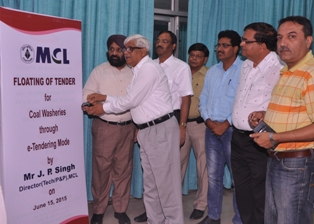 Sri J P Singh,DT(P&P) inagurated MCL floats e-tender for 10 MTY Jagannath Coal Washery