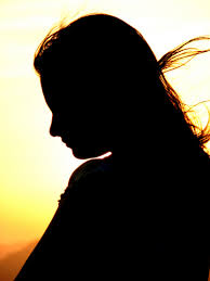 girl in silhouette