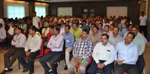 Bankers at the interface on security related issues with Commissionerate police in Bhubaneswar on Tuesday (OST Photo)