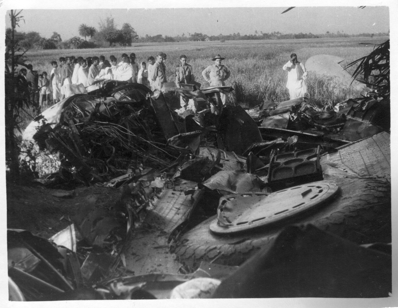 Rubble of a plane that crashed in the 'Bermuda Traingle' during World War -II