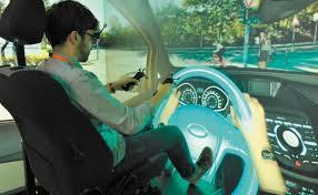 simulated driving tesy