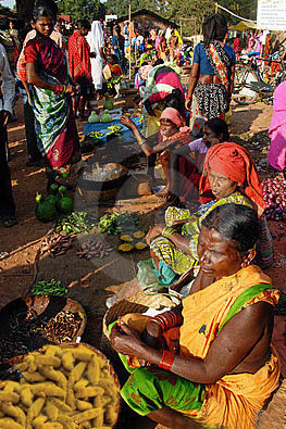 A tribal woman selling organically grown turmeric at a haat in Kandhamal district  (File Pic)