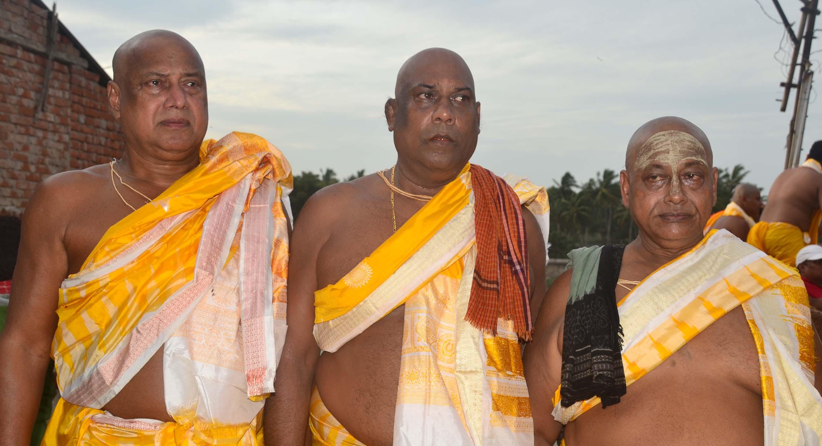 The three 'badagrahis', who performed the 'brahma parivartan' ritual this Nabakalebara
