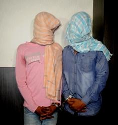 two arrested drug peddlars