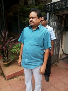 Siba Narayan Chhotaray at the Crime Branch office in Bhubaneswar after his arrest on Sunday (OST Photo)
