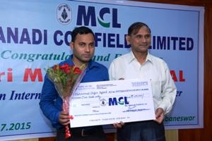 MCL CMD Sri Sahay felicitates Visually impaired cricketing talent Iqbal