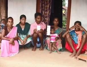 Tribal family of Mahupadar village