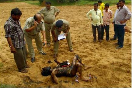 half-burnt body of a girl