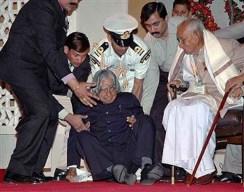 Dr Kkalam collapsed during a lecture at IIM, Shillong on Monday evening