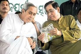 Naveen Patnaik and Pyari Mohan Mohapatra in happier times