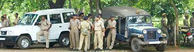 The Utkal University campus is teeming with policemen