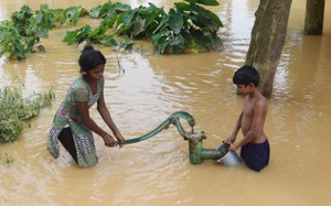 Drnking water is a major problem in the flood affected areas