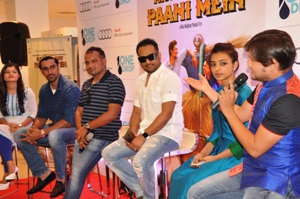 The Kaun Kitne Paani Mein team at a promotional event in Bhubaneswar on Wednesday