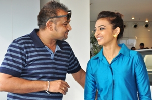 Director Nilamadhab Panda with female lead Radhika Apte at the event