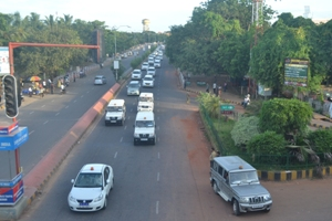 A mock drill of the Presidential carcade ahead of Pranab Mukherjee's two-day Odisha visit starting Friday (OST Photo)