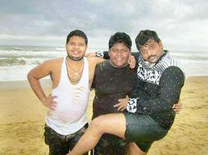 Sarathi Baba's son Satyam having fun with the hero of the film 'Bachelor' produced under the Sarathi banner