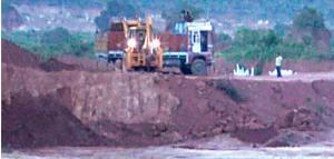 illegal ore mining