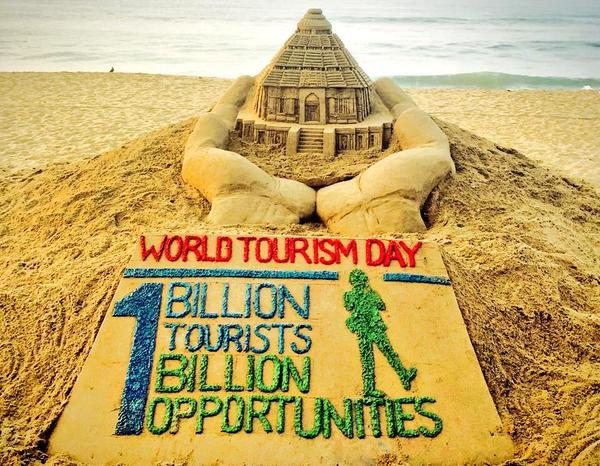 world tourism day sand art
