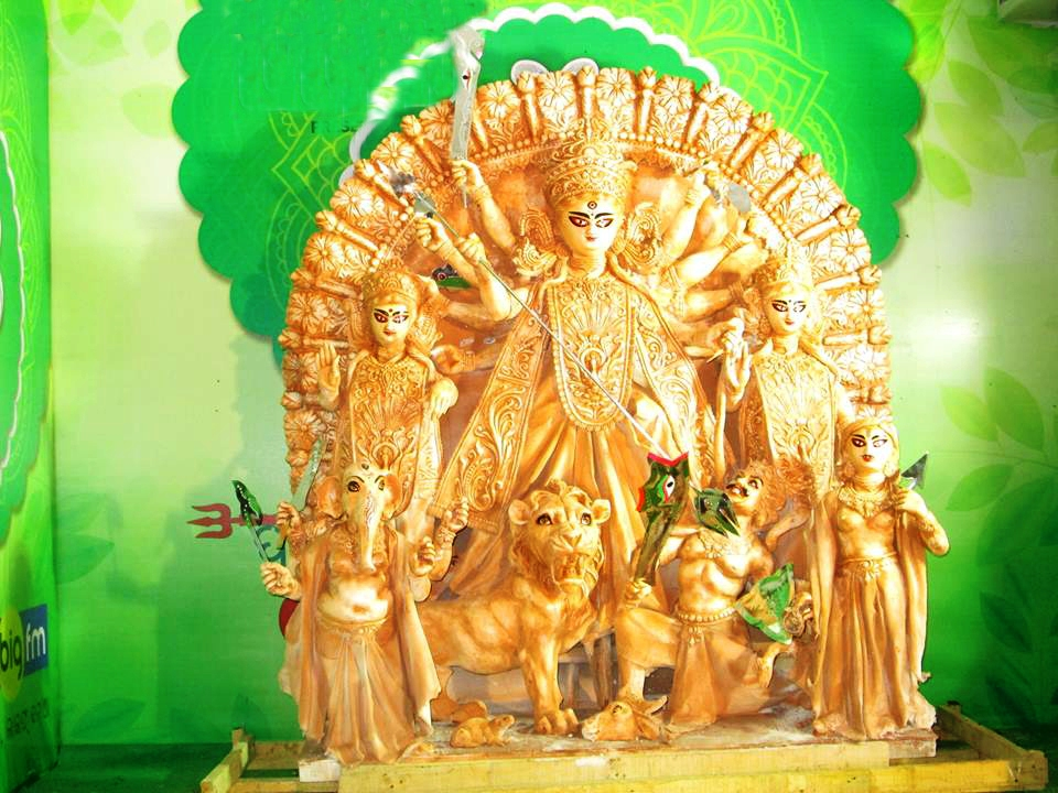 Green Durga